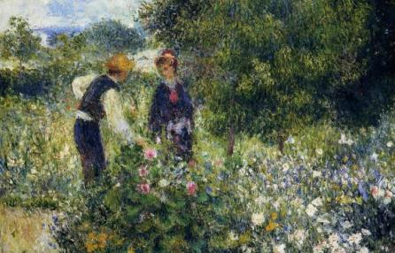 Pierre-Auguste Renoir, Picking flowers, 1875